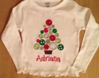 Polka Dot Christmas Tree Shirt or Baby Bodysuit