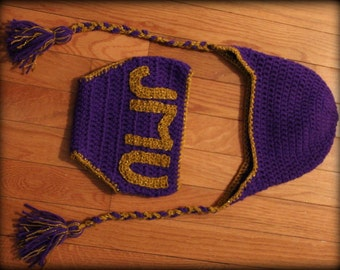 JMU Diaper Cover and Hat Set, James Madison University, photo prop, baby pictures, purple and gold, football, newborn pictures, baby present