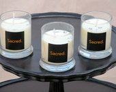 Sacred. A Soy Candle with fresh lavender and chamomile fragrance.  Because you are.