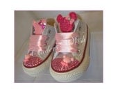 Minnie mouse Converse  bling converse girl converse  bling toe converse  pink converse
