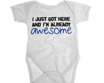 Cute Baby Clothes, Funny Baby Clothes, Unique Baby Gift, Gender Neutral Baby Shower, Pick Your Colors, Custom Gift, Funny Baby Shirt
