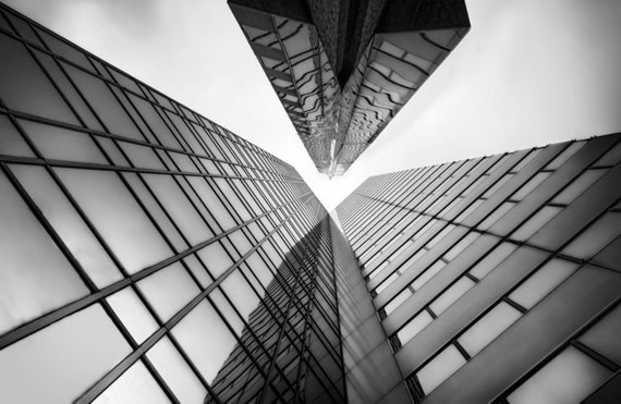 Chicago Architecture Black And White chicago skyscraper print photography building black and