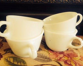 Vintage Pyrex Milk Glass Mugs