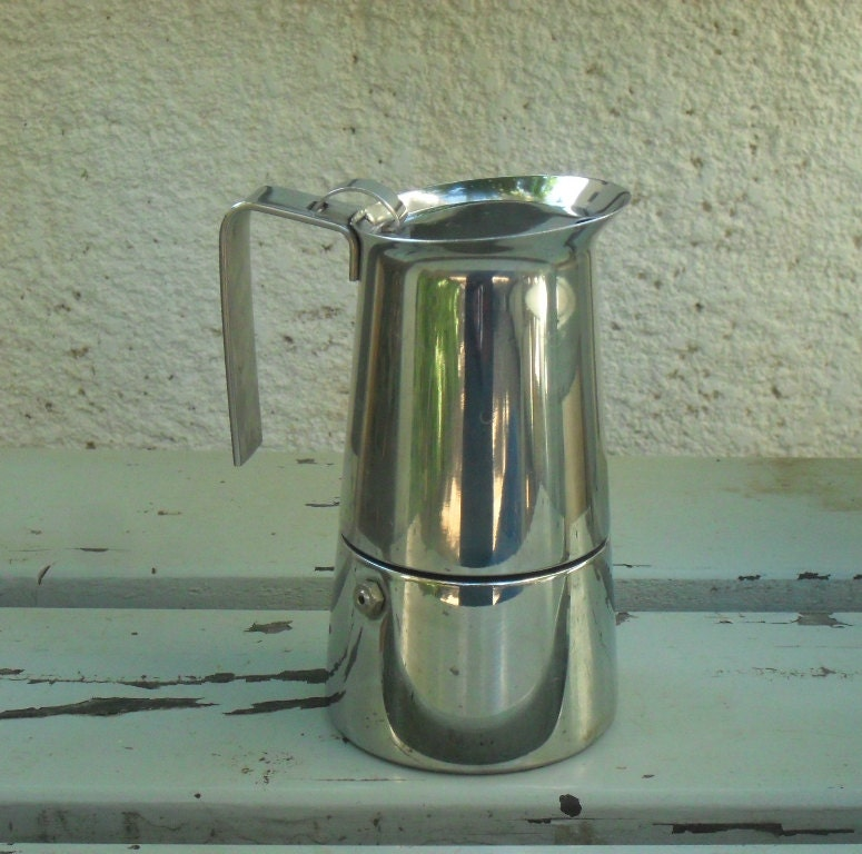 italian stove top espresso maker by savtasshop on etsy. Black Bedroom Furniture Sets. Home Design Ideas
