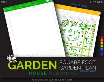 Complete Garden Planner Journal Tracker 35 pages Rainbow