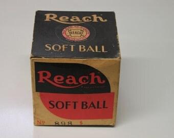 The Original A.J. Reach & Co. Softball No. 898. New in box. c.1930