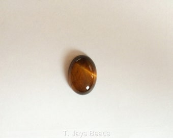 1 x Tiger Eye Oval Cabochon -  8x10mm