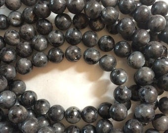 6mm Larvikite Round Beads