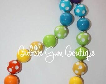 Rainbow  Bubble Gum Necklace