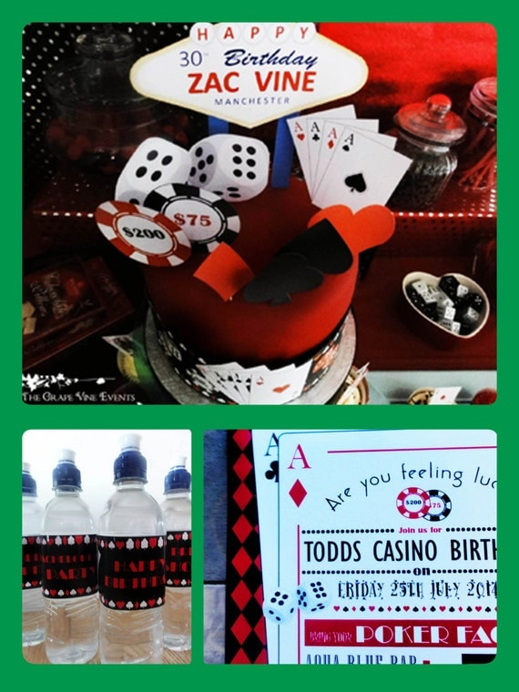 Casino/Las Vegas Themed - Personalized - Standard - Birthday, Hen, Bachelorette, Stag, Bachelor Party - PRINTABLE Pdf