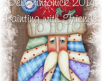 Quilted Santa by Deb Antonick, email pattern packet