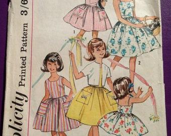 Girls dress pattern (size/age 12, 30 inch bust) Simplicity 4968