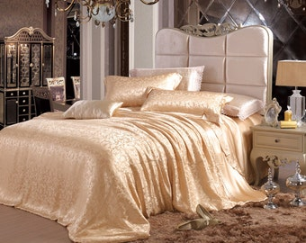 100% charmuse mulberry silk duvet cover comforter cover bed cover Twin Full Queen King Cal king