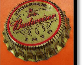 Budweiser Cap on Stretched Canvas