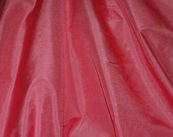 """Dusty Rose Pink Tissue Taffeta Silk, 100% Silk Fabric, 44"""" Wide, By The Yard (TS-7312)"""