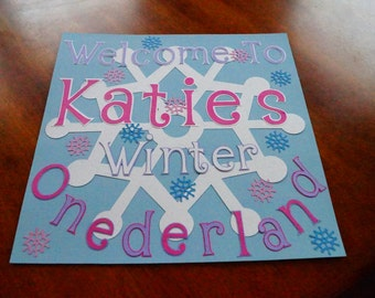 Winter ONEderland Sign