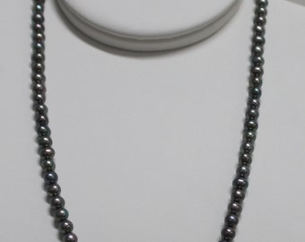 NK15Gray  Quality  Potato Freshwater Pearl Necklace