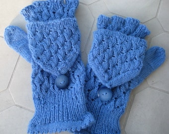 NZ wool Fingerless Gloves Mittens