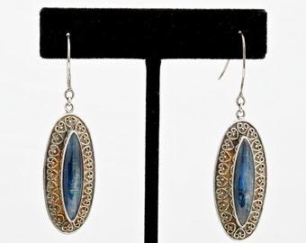 Kyanite 158 - Earrings - Sterling Silver & Kyanite