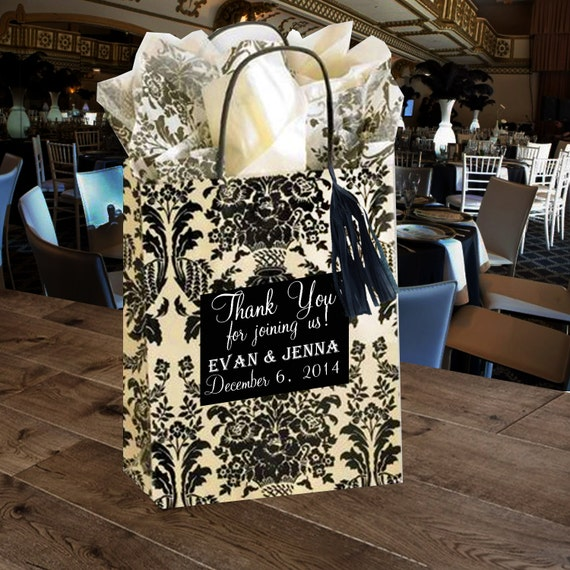 Wedding Gift Bags For Hotel Rooms : Hotel Wedding Welcome Guest Bag Bridal Shower favor gift bag birthday ...