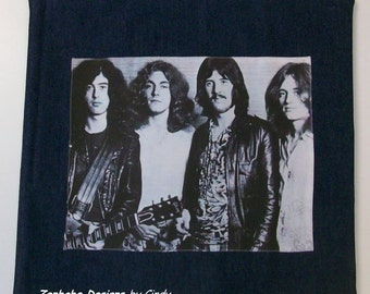 Led Zeppelin Blue Denim Photo Pillow Case