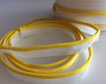 5M Piping Trim Yellow Color Cotton and satin