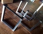 Brushed Square Metal Legs-Bench Legs-Steel Legs-Dining Legs