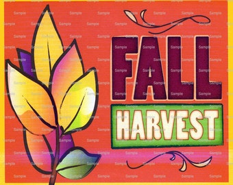 Fall Harvest Halloween Thanksgiving - Edible Cake and Cupcake Topper For Birthday's and Parties! - D2232