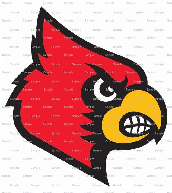 Cardinals Mascot Birthday - Edible Cake and Cupcake Topper For Birthday's and Parties! - D921