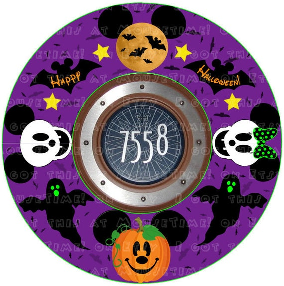 MAGNET WREATH Halloween Themed Mickey Stateroom Door Wreath ~ 015650_Halloween Door Magnets