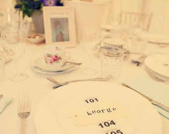 Hand-stamped place settings