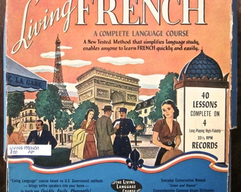 Learning French, Educational Recordings, 4 Record Boxed Set