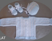 special offer, 20% off, sale, knitted baby set, sweater, bonnet and booties