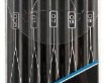 Sanford Prismacolor Premier Marker Pens, 5-Pack Set, Fine Line, Black (Assorted Tips)