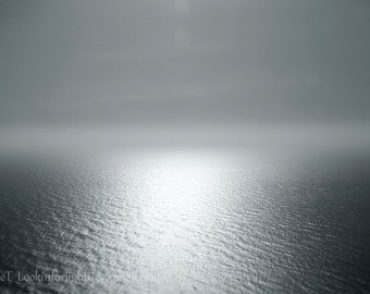 Pacific Ocean Art | Seascape Photo | Oregon Coast | Minimalist Ocean | Ocean View | Cape Perpetua | Pacific Coast Print | Distant Horizon