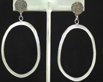 rocky coast sterling silver textured earrings