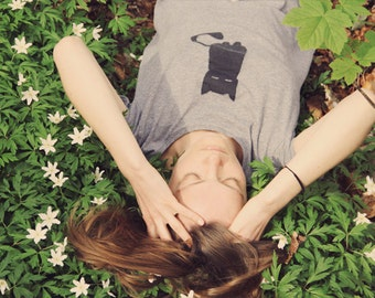 Cat t-shirt- WOMEN-100% organic and fair trade cotton