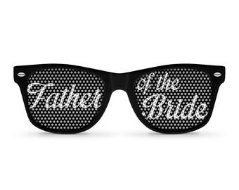 Father of the Bride/Groom Black Retro Party Sunglasses