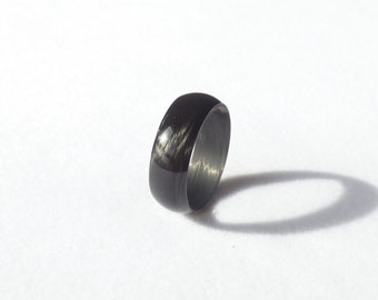 100% carbon fiber undirectional wedding band