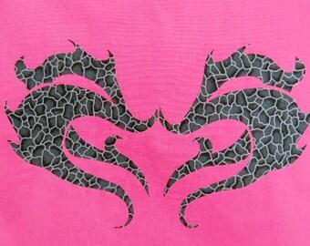 Tribal Dragon Heart Quilt Applique Pattern Design (easy)