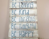 Be Patient - Inspirational Pallet Wood Sign