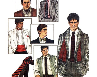 Simplicity Sewing Pattern 6694 Connoisseur Collection  Men's Accecories