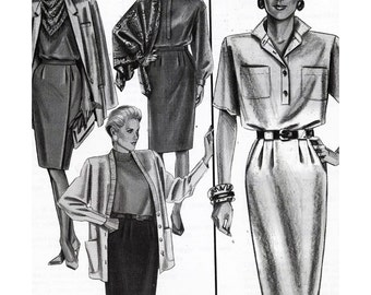 Stretch & Sew Sewing Pattern 451 Slim Skirt  Size:  32-48  Uncut