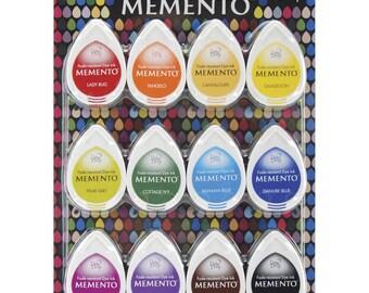 TSUKINEKO Memento Dew Drop Ink Pads 12/Pk CHOOSE ONE: Gum Drops, Sorbet Scoops,  Snow Cones