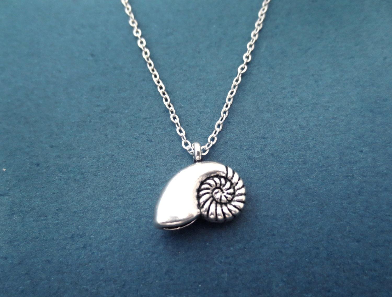 mermaid seashell ariel silver necklace antique shell