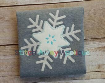 Simple Winter Snowflake Machine Embroidery Applique Design