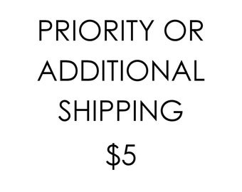 Additional shipping charges or Priority for Flat rate