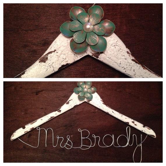White Wedding Dress Hanger: Items Similar To White Rustic Wedding Gown Hanger On Etsy