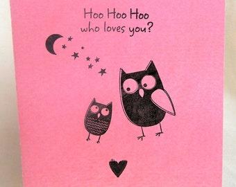Hoo Hoo Hoo Loves You? Blank Greeting Card