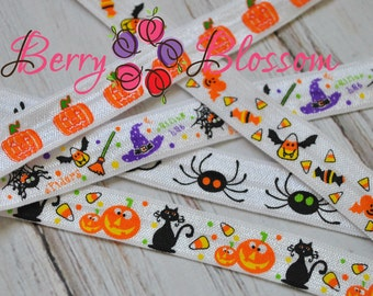Grab Bag Halloween FOE Assorted 5 yards 5/8 inch stretch elastics - FOE elastics - fold over elastic - Halloween Theme & Styles